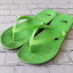 Nike Lightweight Solarsoft Green/Gray Flip Flops